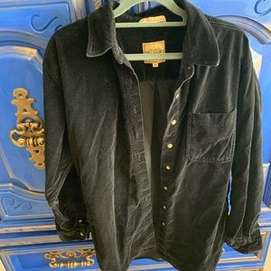 AMI Velvet Black 100% Cotton Macau Jacket Medium